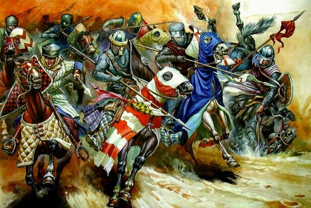 Şarjă a cavalerilor Occidentali FOTO pinterestcom.jpg